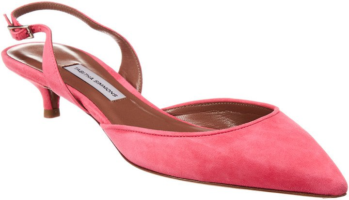 Lily Suede Slingback Pump