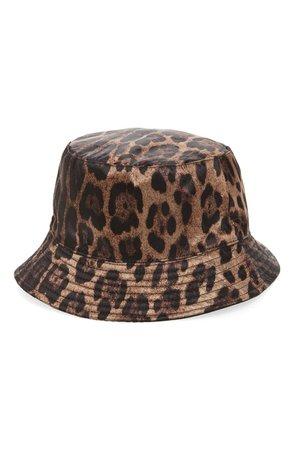 Steve Madden Leopard Spot Reversible Bucket Hat | Nordstrom