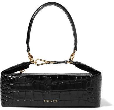 REJINA PYO - Olivia Croc-effect Leather Tote - Black