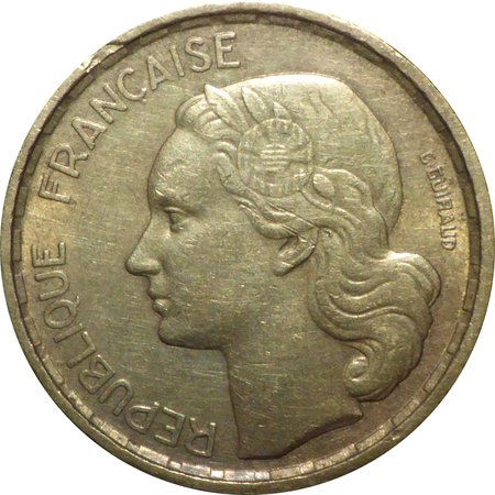 French Frank coin