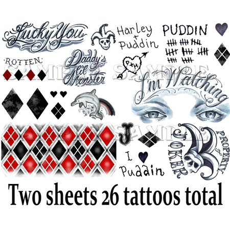 Harley Quinn Temporary Tattoos