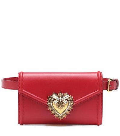 Devotion leather belt bag