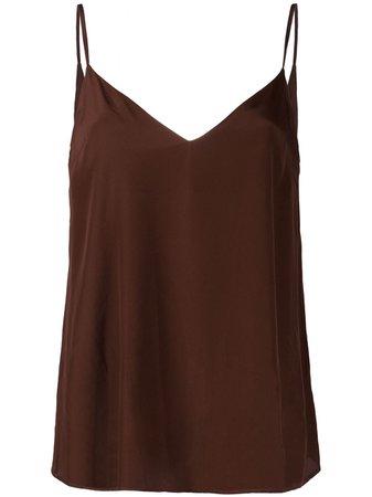 Brown Federica Tosi V-neck slip vest FTI20CN0760SE0015 - Farfetch