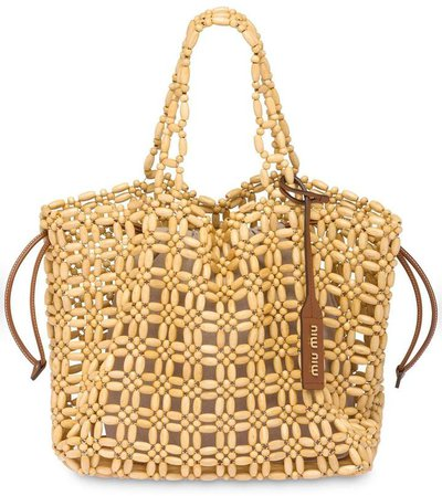 Wood Bead Tote Bag