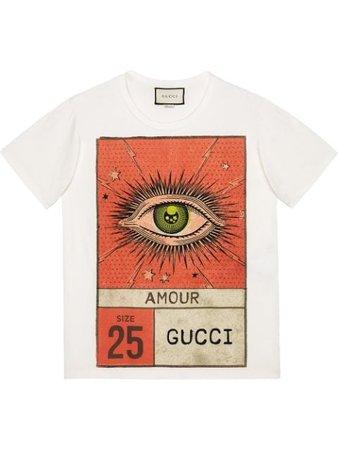Gucci Amour Eye Print T-shirt - Farfetch