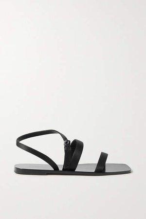Satin Sandals - Black