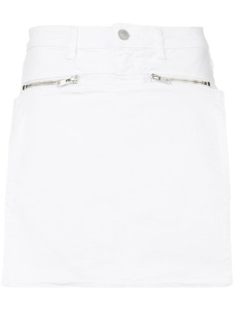 1017 ALYX 9SM White Denim Skirt | Farfetch.com