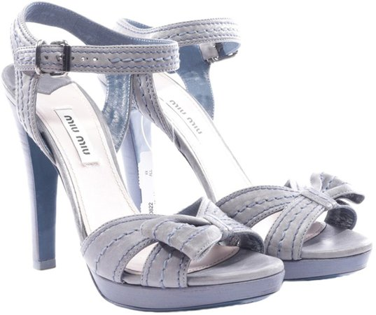 Blue Exotic leathers Sandals