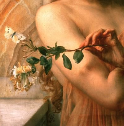 "Psyche in the Temple of Love"" (1882) (detail) by Sir Edward John Poynter (1836-1919). 