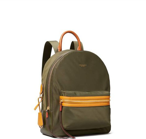 Perry Nylon Color-Block Zip Backpack