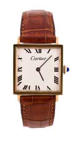 brown cartier watch