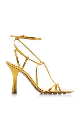 Leather Strappy Heeled Sandals by Bottega Veneta   Moda Operandi