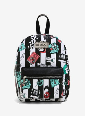 Beetlejuice Stripe Icons Mini Backpack
