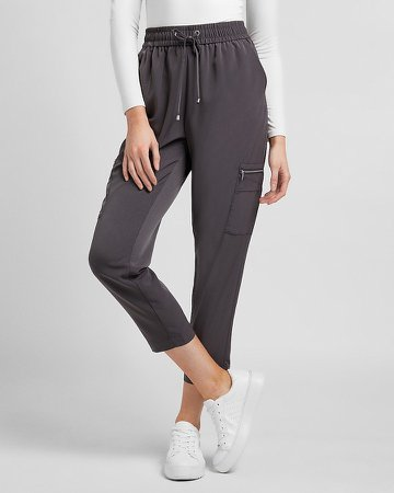 High Waisted Pull-On Cargo Jogger Pant