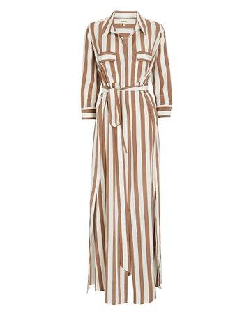 L'Agence Cameron Silk Shirt Dress | INTERMIX®