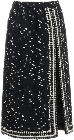 Giambattista Valli Polka-Dot Tweed Skirt