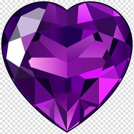 Ruby Gemstone Heart , Purple Heart transparent background PNG clipart | PNGGuru