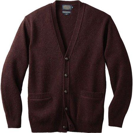 brown men's sweater cardigan