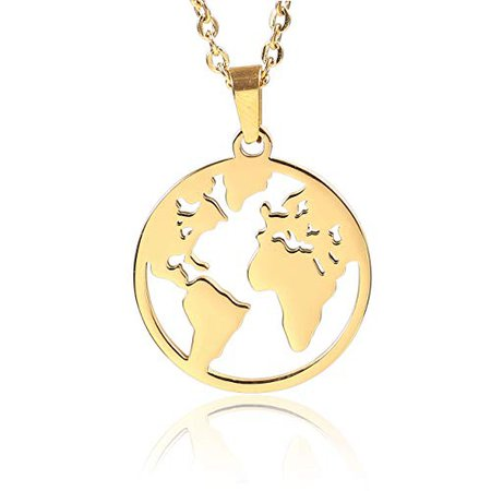 gold necklace earth