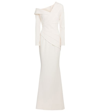 Safiyaa, One-shoulder crêpe gown