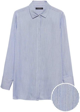 Parker Tunic-Fit Soft Stripe Shirt