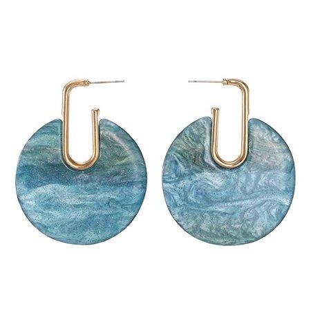 Amazon.com: FAMARINE Geometric Drop Earrings, Long Square Marble Acrylic Dangle Earrings for Women, Green: Jewelry