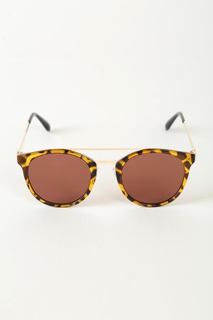 Brown Tortoise Sunglasses - Round Sunglasses - Chic Sunnies