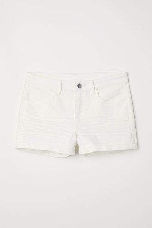 Twill Shorts - White