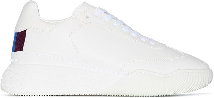 white Loop lace-up sneakers