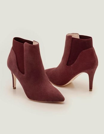 Elsworth Ankle Boots - Maroon