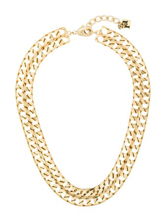 Shop gold Rosantica double chain-link necklace with Express Delivery - Farfetch