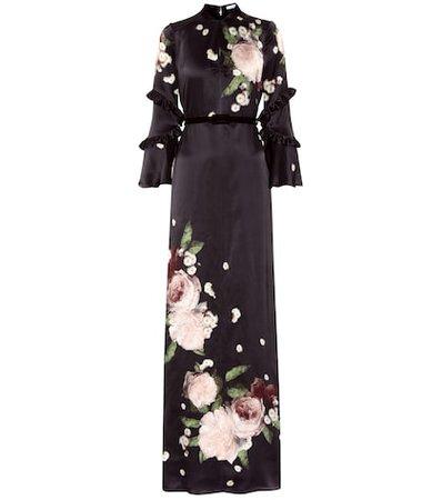 Linden printed silk dress