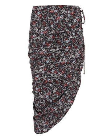 Ari Floral Ruched Skirt