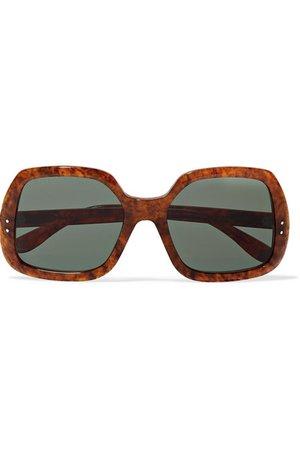 Gucci | Oversized square-frame tortoiseshell acetate sunglasses | NET-A-PORTER.COM