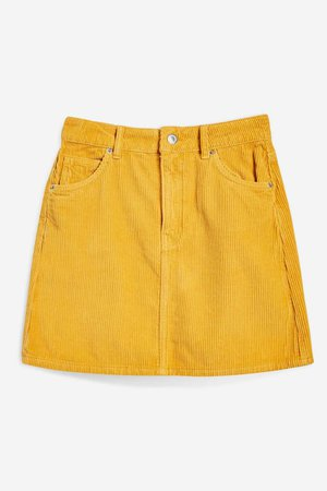 Mustard Corduroy Skirt - New In Fashion - New In - Topshop Europe