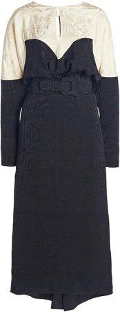 Johanna Ortiz Careless Jacquard Midi Dress