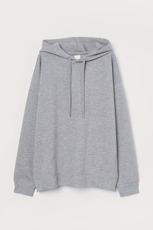 Oversized Hoodie - Gray melange - Ladies | H&M US