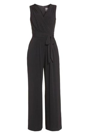 Vince Camuto Faux Wrap Jersey Jumpsuit (Regular & Petite) | Nordstrom