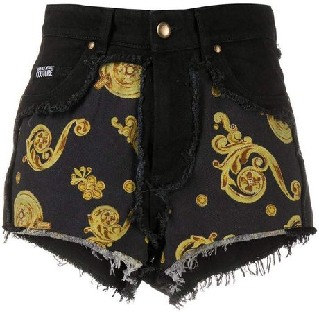 baroque print shorts