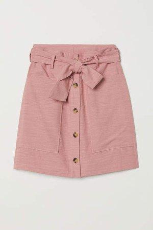 Lyocell-blend Utility Skirt - Pink