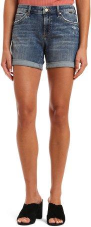 Pixie Rolled Hem Denim Shorts