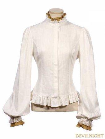 White Women Steampunk Shirt