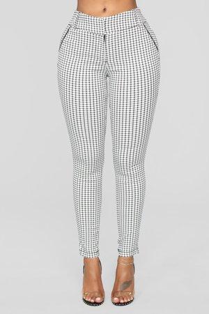 Harley Striped Pants - White/Black