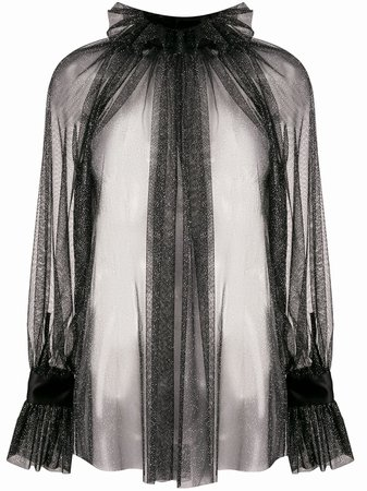 Styland Shimmer Sheer Blouse - Farfetch