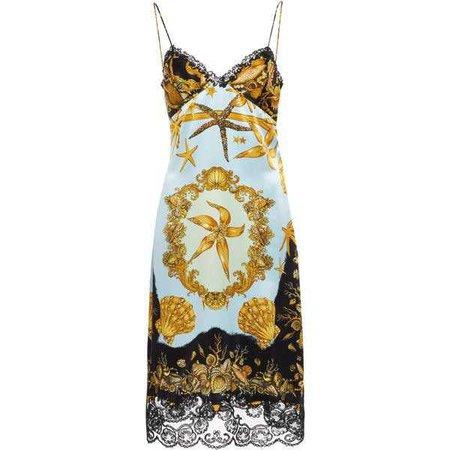 Versace Crepe Satin Slip Dress