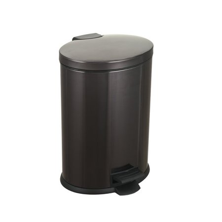 Better Homes & Gardens 3.1 Gal / 12L Black Oval Step Trash Can, Stainless Steel with Lid - Walmart.com - Walmart.com