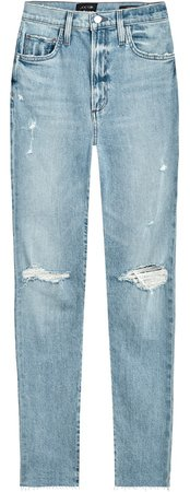 The Raine Ripped Super High Waist Ankle Slim Jeans
