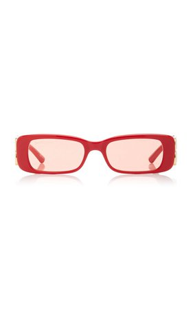 Dynasty Square-Frame Acetate Sunglasses By Balenciaga | Moda Operandi
