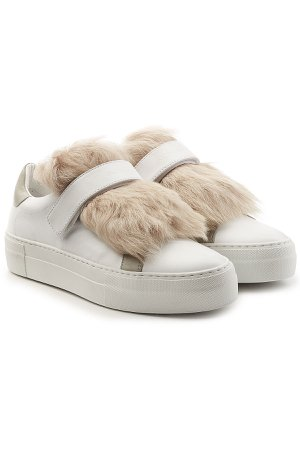 Victoire Leather Sneakers with Lamb Fur Gr. EU 40
