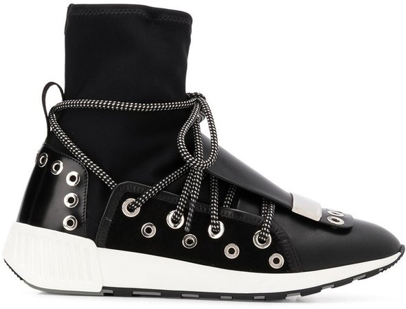 Silver Hardware Embellished Sneakers